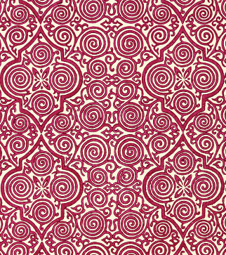 Persian Maze Wallpaper - Red
