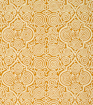 Persian Maze Wallpaper - Cream on Ochre