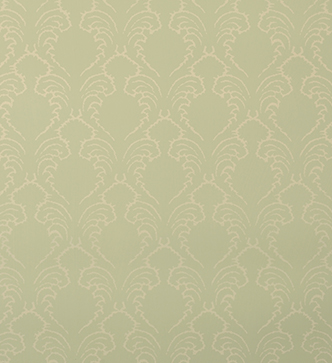 Etched Pineapple Wallpaper - Cream on Duck Egg Blue
