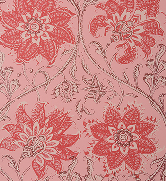 Palampore Blossom Wallpaper - Pink and Red
