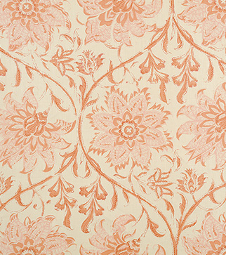 Palampore Blossom - Indian Pink - Stone Linen