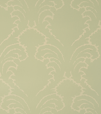 Pineapple Frond Wallpaper - Cream on Duck Egg Blue