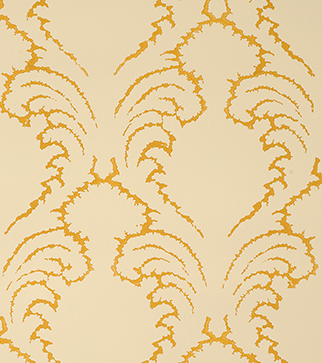 Pineapple Frond Wallpaper - Ochre