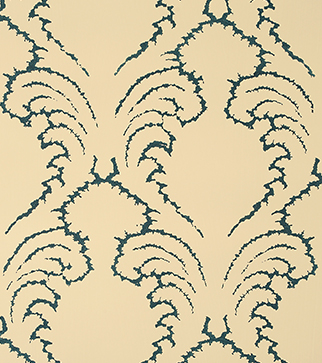 Pineapple Frond Wallpaper - Indigo