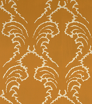 Pineapple Frond Wallpaper - Cream on Ochre