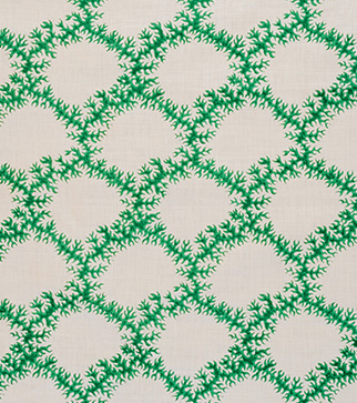 Seaweed Lace - Emerald - Stone Linen