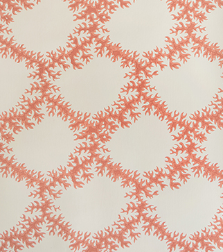 Seaweed Lace Wallpaper - Ruskin Pink