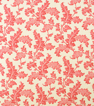 Scrolling Acanthus - Ruskin Pink - Ivory Linen