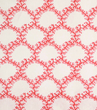 Seaweed Lace - Ruskin Pink - Linen Lawn