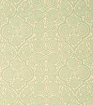 Persian Maze Wallpaper - Blue Grey