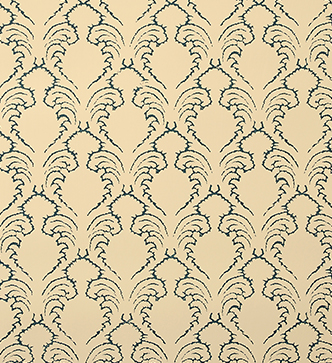 Etched Pineapple Wallpaper - Indigo