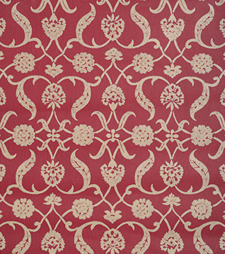 Lotus Palmette Wallpaper - Raspberry