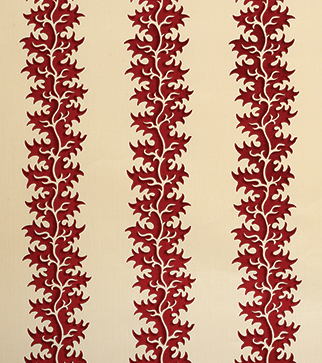 Osmunda Frond - Lacquer Red - Stone Linen
