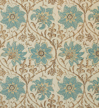 Palampore Blossom Wallpaper - Blue and Brown