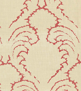 Pineapple Frond - Watermelon - Stone Linen