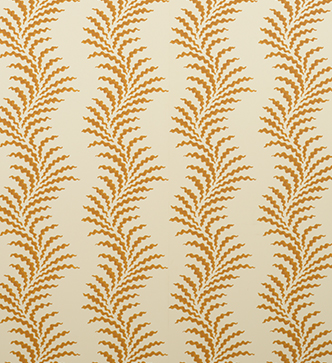 Scrolling Fern Frond Wallpaper - Indian Yellow