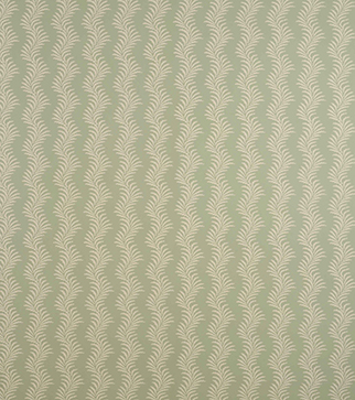 Scrolling Fern Silhouette Wallpaper - Cream on Duck Egg Blue
