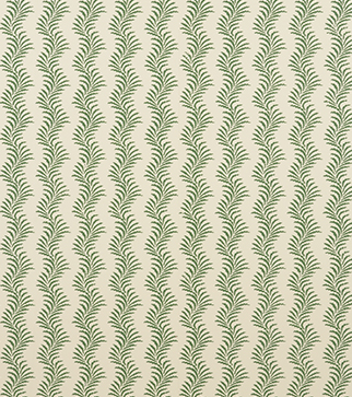 Scrolling Fern Silhouette Wallpaper - Emerald