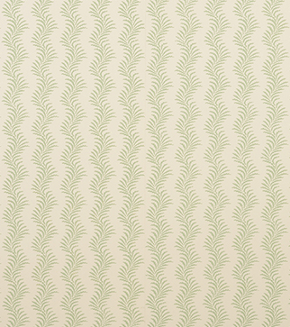 Scrolling Fern Silhouette Wallpaper - Leaf Green