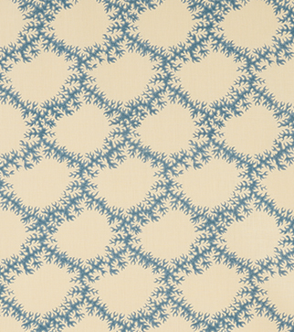 Seaweed Lace - Azure - Stone Linen