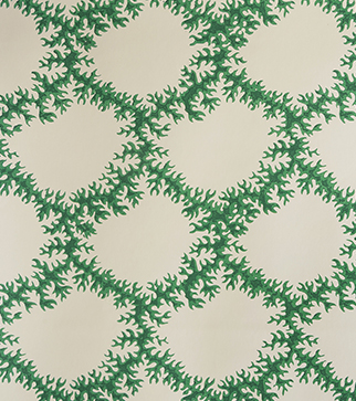 Seaweed Lace Wallpaper  - Emerald