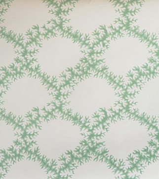 Seaweed Lace Wallpaper - Leaf Green