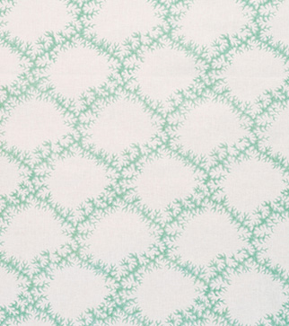 Seaweed Lace - Leaf Green - Linen Lawn