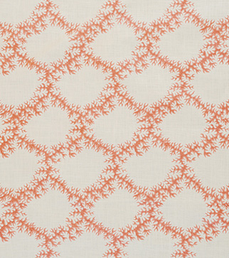 Seaweed Lace - Ruskin Pink - Stone Linen