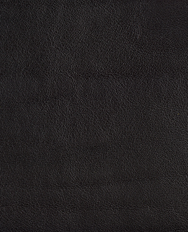 Shiny Black Cow Hide Leather